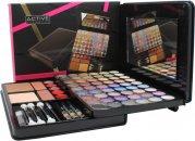 Active Glamour Gezicht Folio Compact - 54 Oogschaduws + 1 Compact Poeder + 2 Blushes + 5 Lip Glosses + 3 Potloden & Kwasten Set